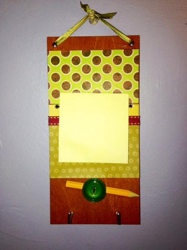 Post-It Note Holder/Key Hangers - dots