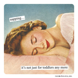 Anne Taintor Magnet, napping