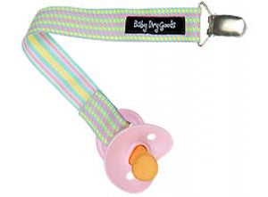 Pacifier Clip! (pink/yellow)