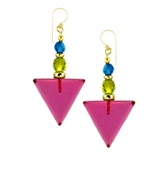 Owen Glass Earrings, #802