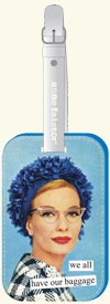 "Anne Taintor Luggage Tag/ ""We all have baggage"""