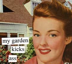 New Anne Taintor magnet, my garden