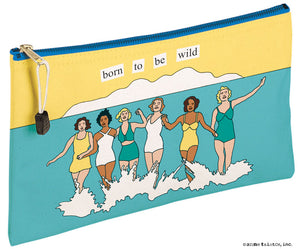"Anne Taintor Canvas Pouch ""wild"""