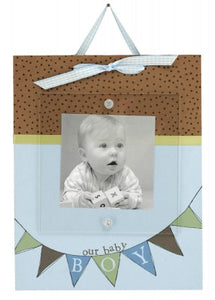 Baby Ribbon Frame - our baby boy