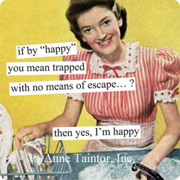 Anne Taintor napkins 'Trapped'