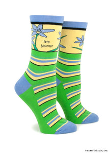Anne Taintor Crew Socks ~ late bloomer