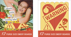 Emery Boards/warning label