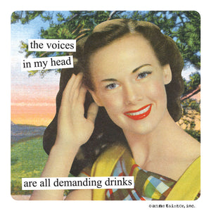 "Anne Taintor Magnet, ""voices in my head"""