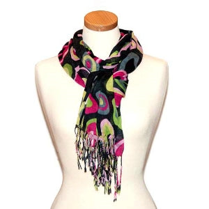 Miss Fabulosity Circles Scarf~Black