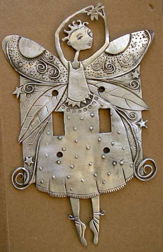 Dancing Fairy dbl switchplate cover, Leandra Drumm (#81)