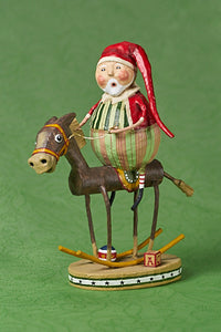 """Muletide Santa"" by Lori Mitchell"