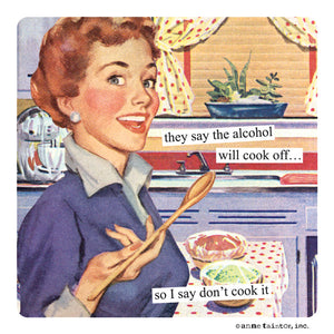 "Anne Taintor Cocktail Napkins ""I say don't cook it"""