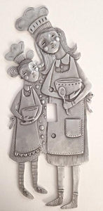 """Lil Sous Chef"" switchplate cover by Leandra Drumm (#146)"
