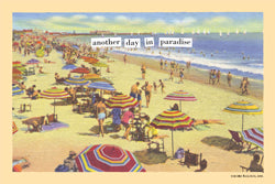 "Magnetic Postcard ""Paradise"""