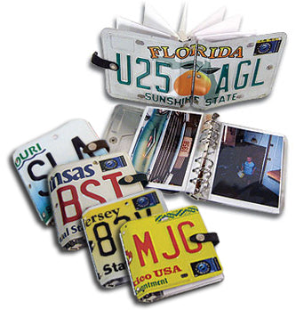 4x6 Photo Album made from a license plate!