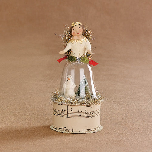 Angel on Cloche container by Nicol Sayre