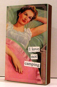 "Boxed Matches ""Not Camping"" Anne Taintor"