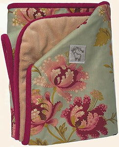 """So Soft Stroller Blanket"" in Tea Garden fabric"