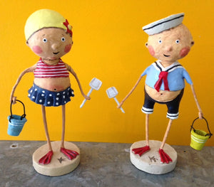"""Bathing Beauty & Sailor Boy II"" by Lori Mitchell"