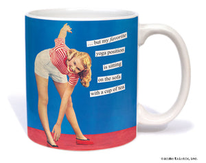 "Anne Taintor Mug  ""yoga position"""