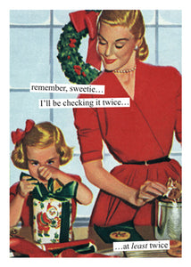Anne Taintor Boxed Holiday Cards-checking twice