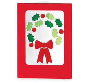 GelGems, 6 Holiday Cards (Wreath)