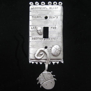 """Bedbugs"" switchplate cover by Leandra Drumm (#36)"