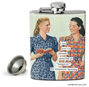 "Anne Taintor Flask ""hangover"""