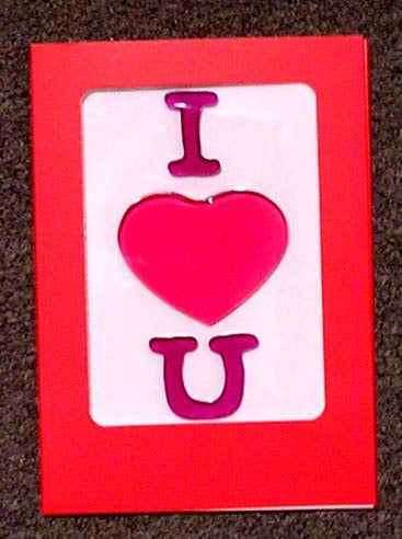 GelGems card - I love U