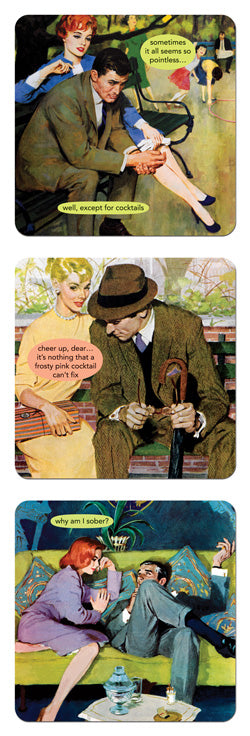 NEW! Anne Taintor Coaster set- why am I sober?