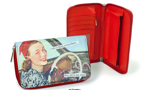 "Anne Taintor Zip Around Wallet ""they drive me crazy"""