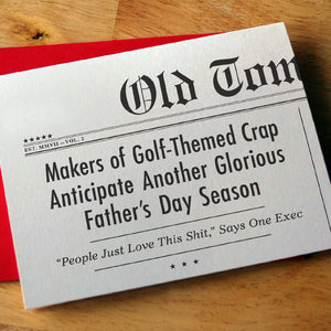 """Golf-Themed Crap"" Father's Day Card"