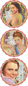 Anne Taintor Coaster set/6 -quicker