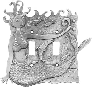 Mermaid double switchplate cover (#57)