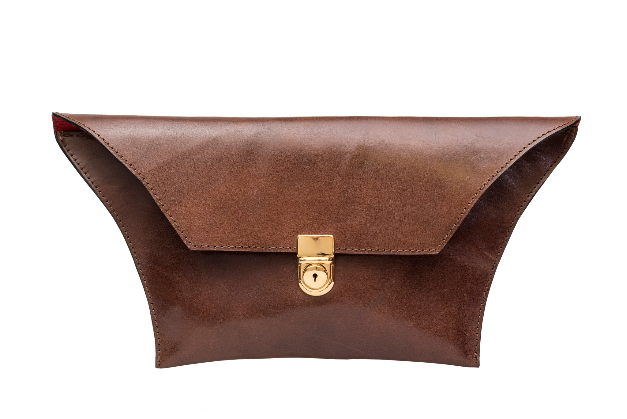 Clutch / Evening Bag/ small brown clutch - Avi Algrisi