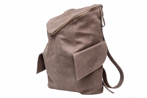 LEATHER BACKPACK /BROWN LEATHER BACKPACK