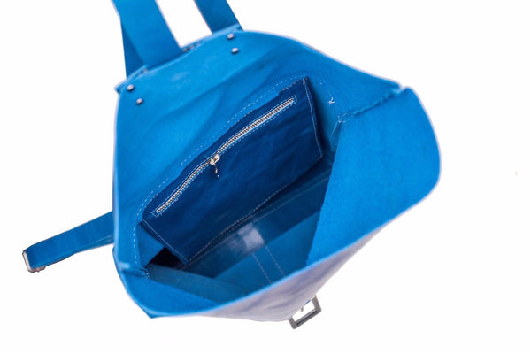 Leather Backpack / Laptop Bag / Blue Satchel Bag /Office bag - Avi Algrisi
