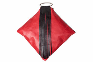 Clutch/  Red Wristlet Clutch - Avi Algrisi