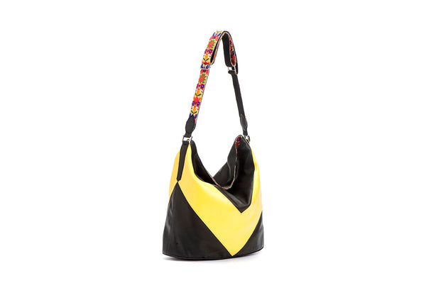 Tote bag black and yellow - Avi Algrisi