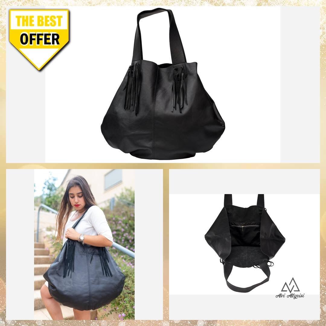 Hobo Bag /Black Hobo bag - Avi Algrisi