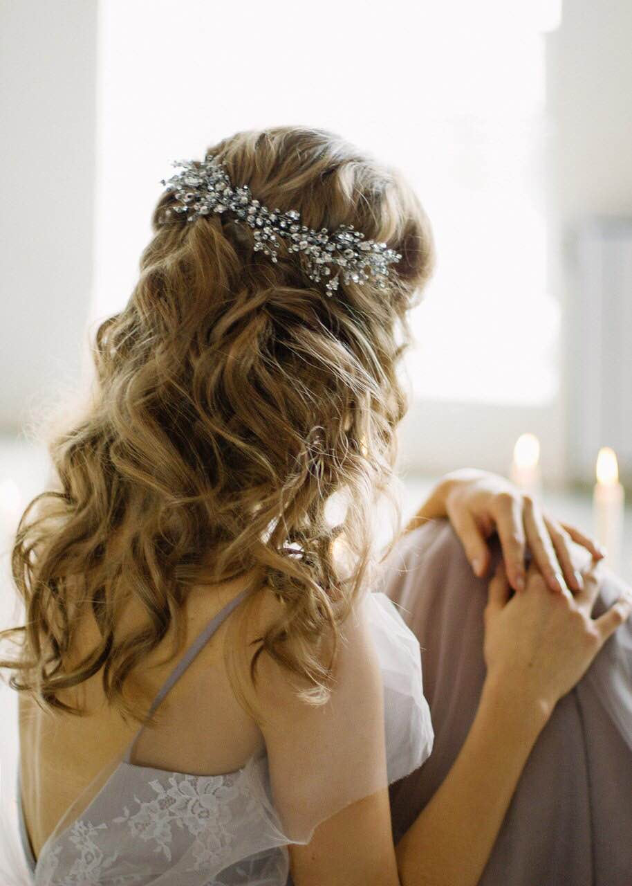 Rhinestone Headpiece Bridal Hair Piece