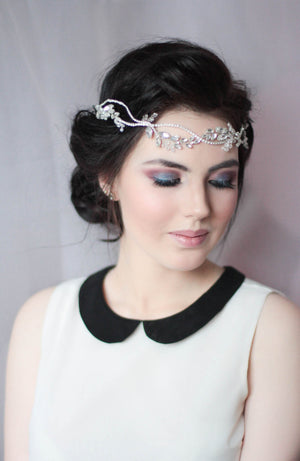 Crystal Decorated Wedding Bridal Hair Vine Halo