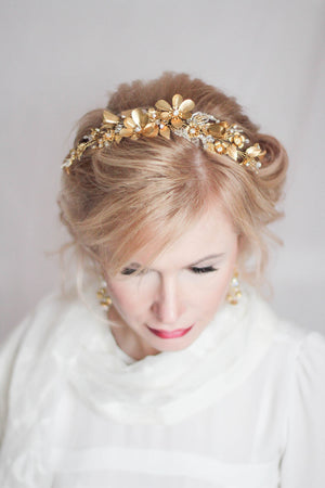 Large Floral Headpiece Bridal Flower Headpiece
