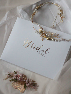 Bridal Headpiece Twig Branch Hair Comb Floral Flower Headpiece