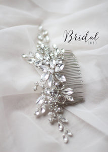 Bridal Hair Comb with Rhinestones and Crystals