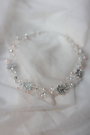 Wedding Crystal Hair Vine Decorated HeadPiece