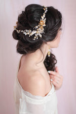 Floral Wedding Statement Headpiece