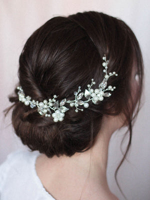 Bridal Headpiece with Pearls and Rhinestones