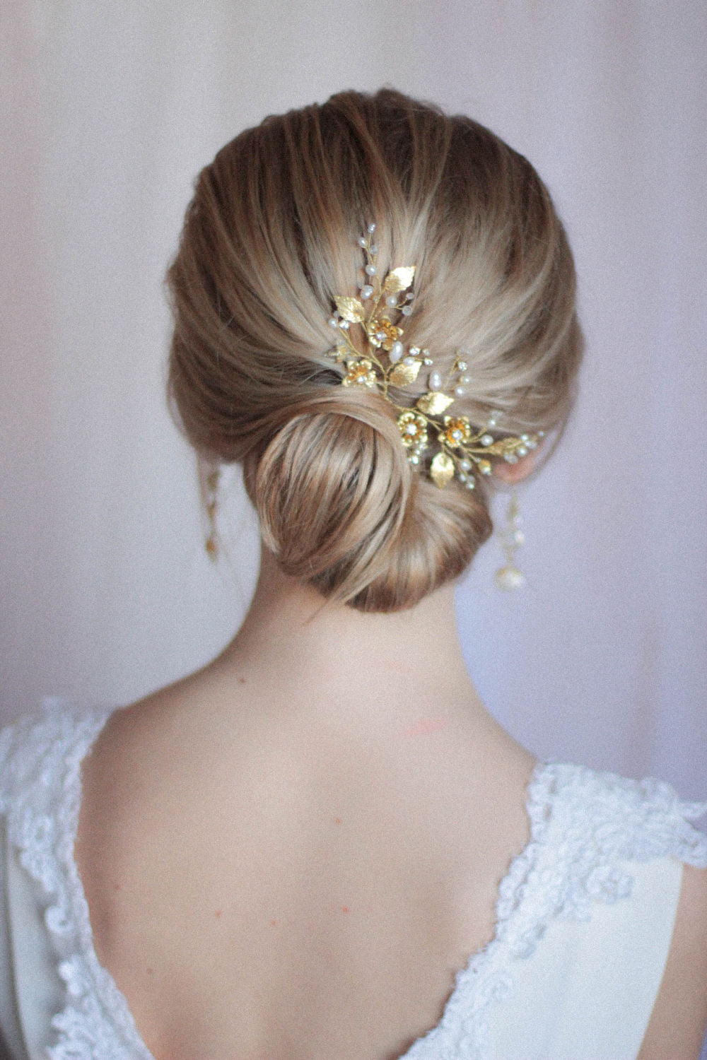 Bridal Hair Pins Large Floral Hair Pins Set of Two