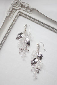 Bridal Earrings Floral Matching Headpiece Earrings